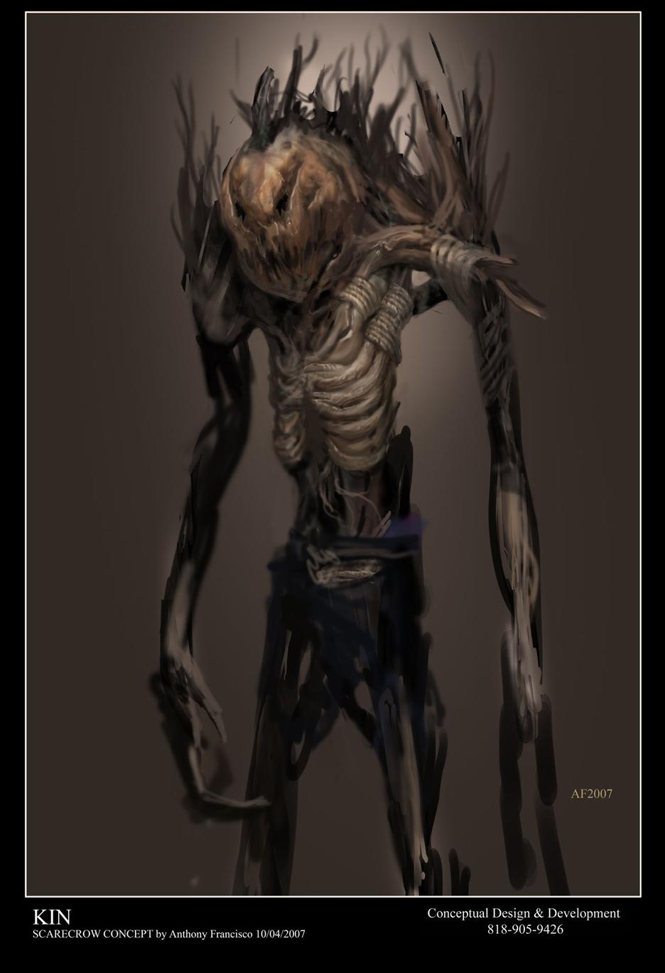 Evil Scarecrow Art