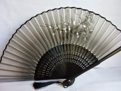 Japanese silk hand fan