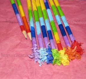 Personalized Frilled Rainbow pencils