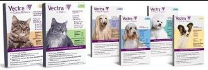 Vectra for Dogs & Cats Dog 6.0ml 56-100lbs- 3 Appl.
