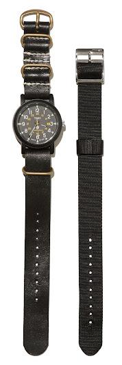 *繡字服務-期間限定:master-piece x TIMEX 職人手作皮革錶帶 2
