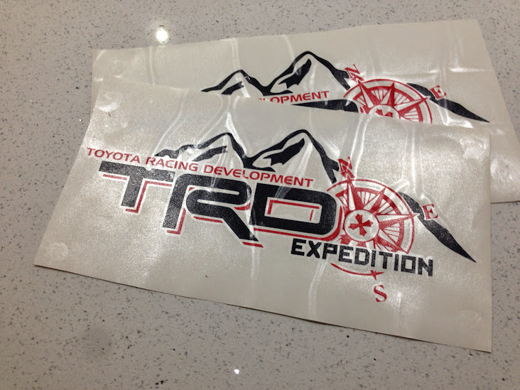 Toyota Trd Bedside Sticker Expedition Edition Expedition