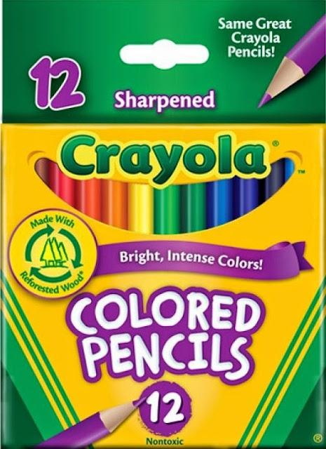 Bút chì 12 màu dạng ngắn