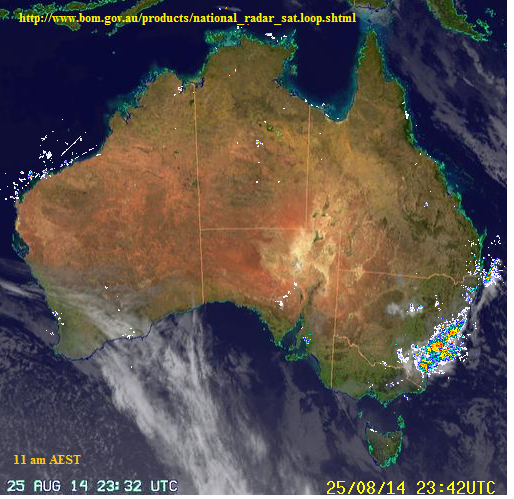 26th aug 2014 sat pic rain for sydney