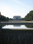 And looking towards the Lincoln Memorial and the Reflecting Pools