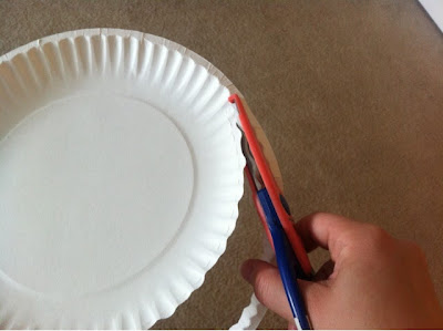 easy 5 step paper plate bowls for picnics or camping www.thebrighterwriter.blogspot.com
