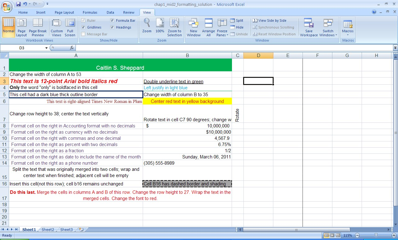 Microsoft PowerPoint Homework