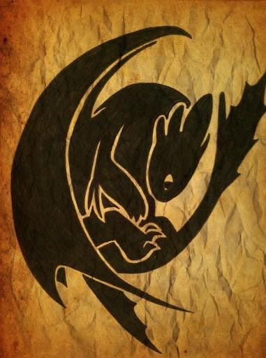 toothless night fury dragon tattoos designs ideas