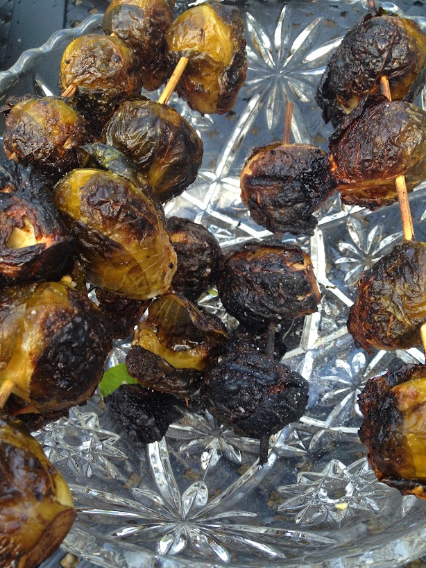 Grilled Brussesls sprouts