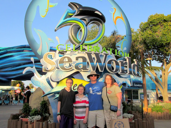 The gang just before leaving Sea World