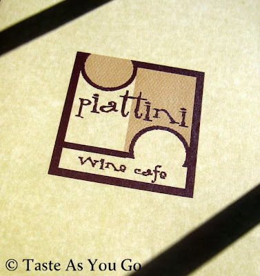Piattini Wine Cafe Menu Cover in Boston, MA - Photo by Taste As You Go