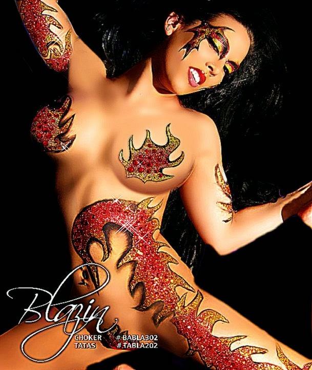 Blazin Body Art   3995  XOTIC EYES Peel Stick Fill and Go