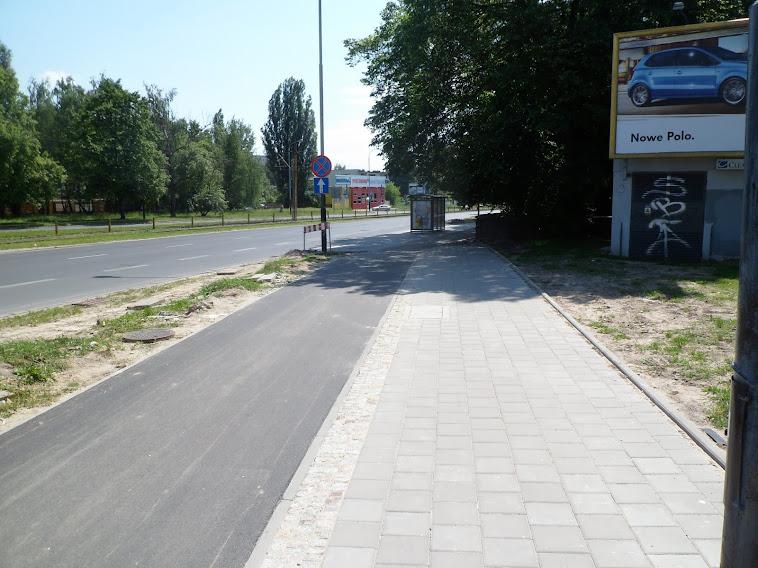 Politechniki/Felsztyńskiego, widok w stronę Pabianickiej.