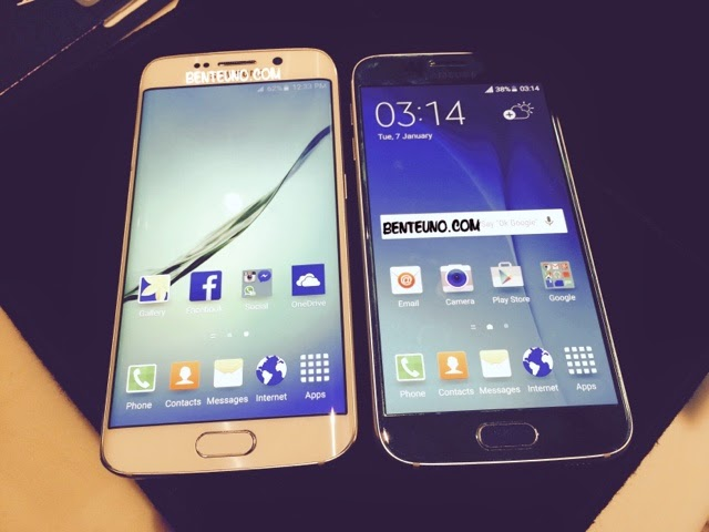 S6 and S6 Edge side by side| Benteuno.com