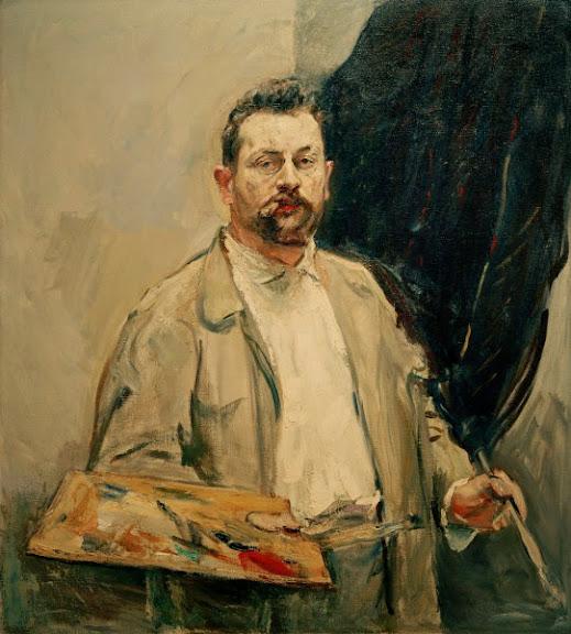 Max Slevogt - Selbstbildnis, mit Palette