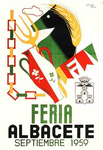 Cartel Feria Albacete 1959