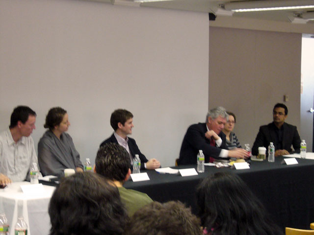 Panelists discussing