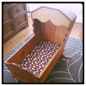 handmade wooden cradle