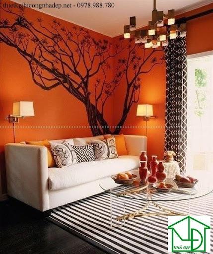 Tranh tường phòng khách hiện đại