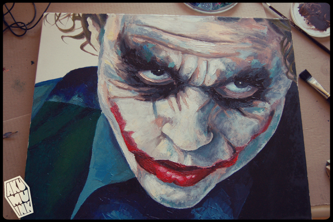joker paint, joker art, joker oil, joker canvas, joker fanart, joker original art, batman painting, joker painting, batman oil, joker commission, dark knight canvas, joker face