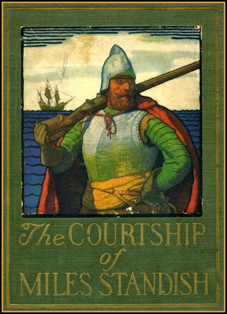 N. C. Wyeth - The Courtship of Miles Standish, cover illustration
