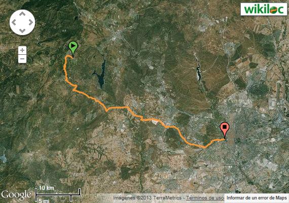 Ruta MTB de El Escorial a Madrid. Sábado 2 de mayo 2015 - Pincha para verla en Wikiloc