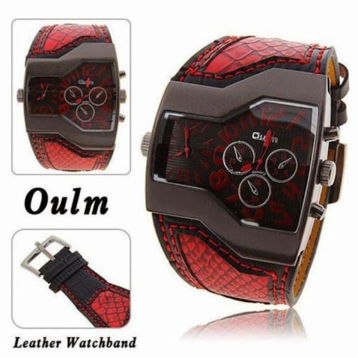 5 Colors Super Cool Men Quartz Watches Oulm Double Time