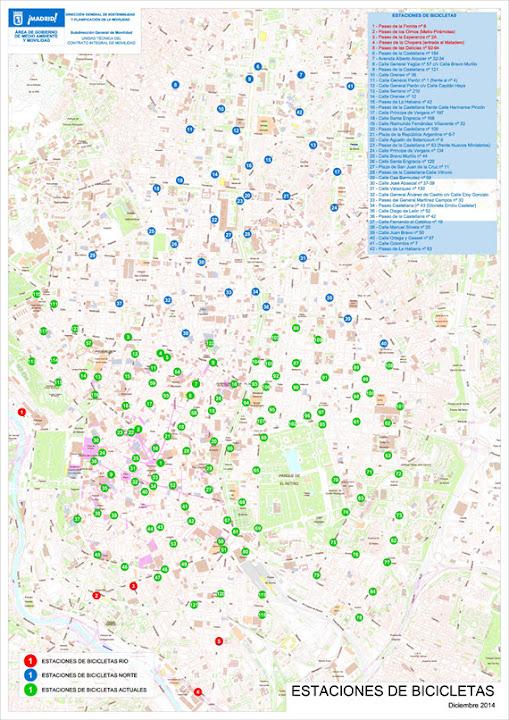 42 nuevas estaciones y 468 bicis para BiciMAD en 2015