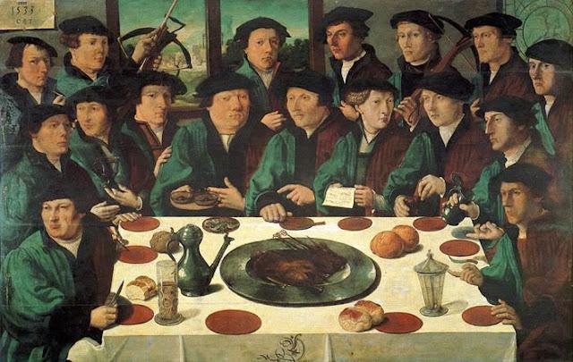 Cornelis Anthonisz. Banquete para los Ballesteros de la Guardia Cívica de Amsterdam