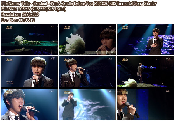 [Perf] Sandeul   Im A Candle Before You @ KBS Immortal Song 2 131026