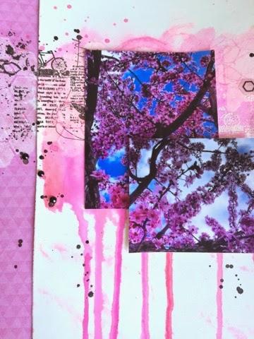 scrapbooking, watercolor, gelatos, neocolors, spring, finnabair, heidi swapp, mix media,
