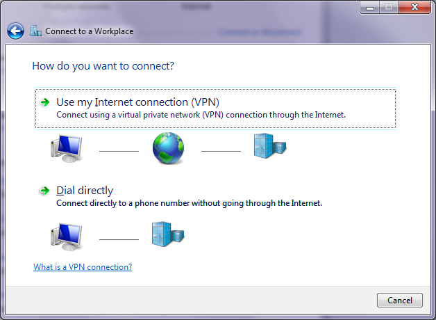 Setup VPN - Dial type