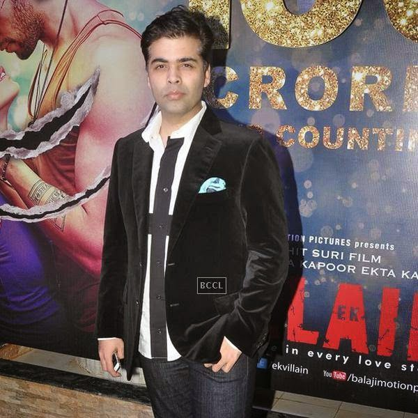 Karan Johar during the success party of Bollywood movie 'Ek Villain', held at Ekta Kapoor's residence on July 15, 2014.(Pic: Viral Bhayani)