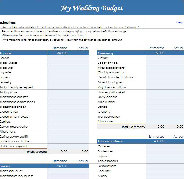 wedding budget spreadsheet google docs driverlayer search engine. Black Bedroom Furniture Sets. Home Design Ideas
