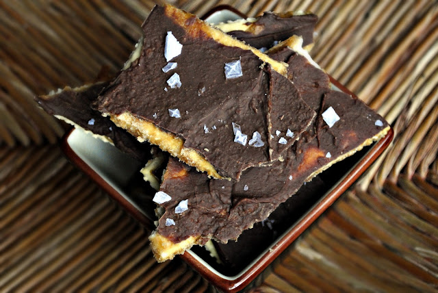 Sea Salt Saltine Toffee l SimplyScratch.com