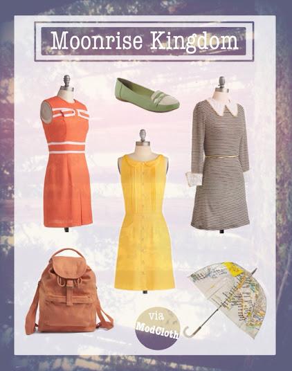 Modcloth 60's fashion moonrise kingdom inspired