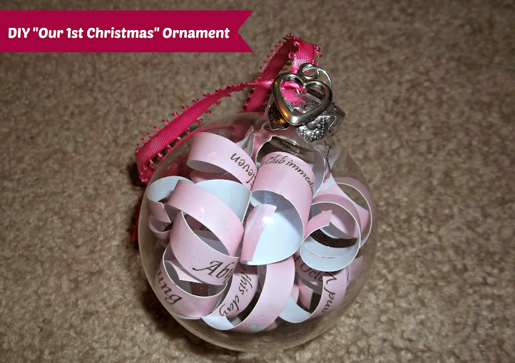 DIY Wedding Invitation Our First Christmas Ornament Tutorial