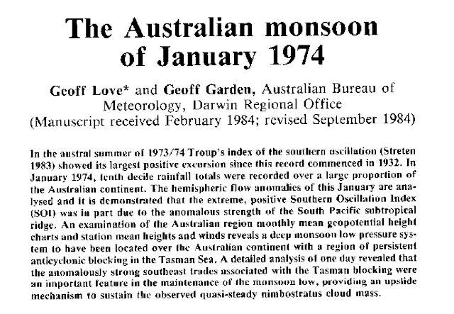 monsoon trough Australia 1974