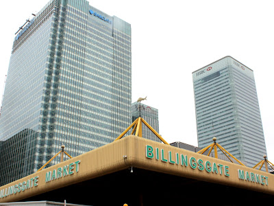 Billingsgate fish market in Canary Wharf