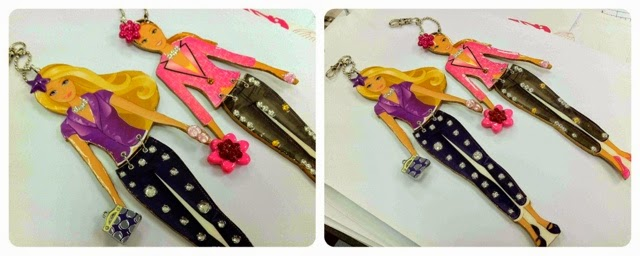 Paper-doll-keychain-purse-charms