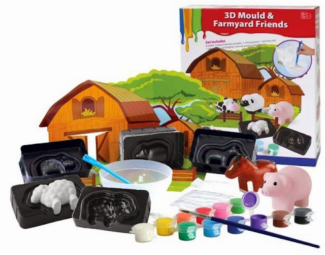 Bộ tô màu sáng tạo hình nông trại 3D
