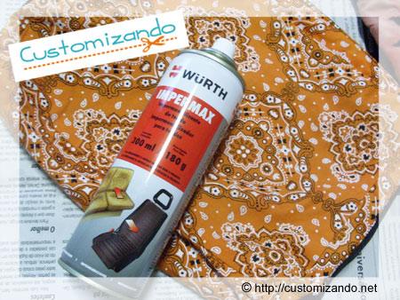 Impermeabilizando bolsas de tecido com Impermax