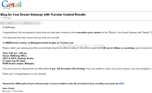 Blog for Your Dream Getaway with Travelar Contest Results