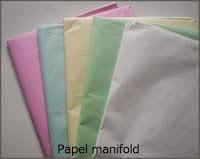 Papelmanifold de colores