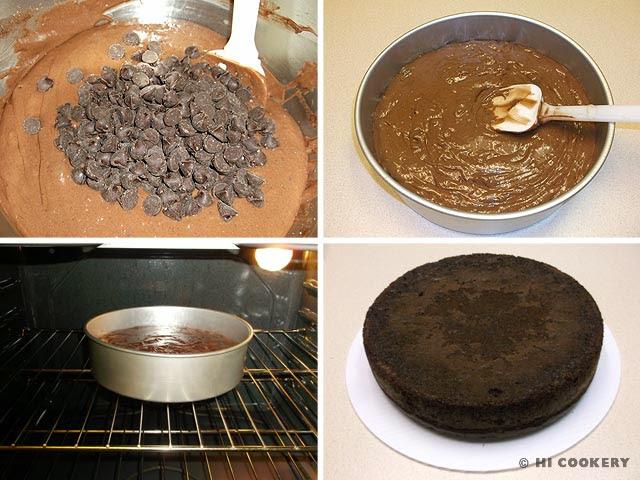 Chocolate Almond Liqueur Cake