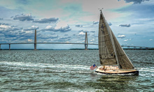 J/100 sailing off Charleston Harbor, SC