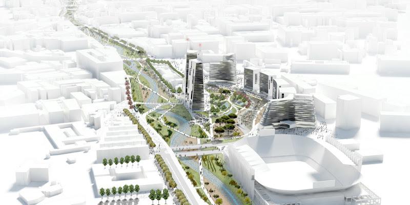 concurso de ideas arquitectura terceros málaga guadalmedina propuesta