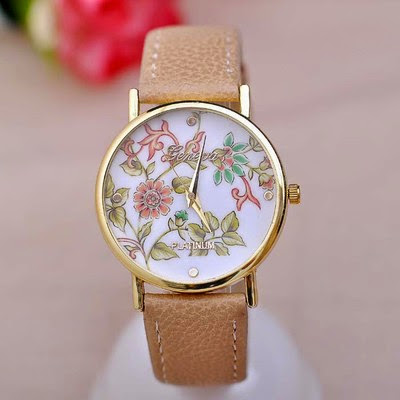 Fashion Geneva Watches Women Floral Quartz Watch Daisy