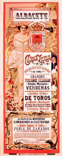 Cartel Feria Albacete 1905