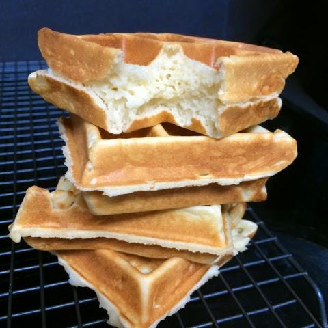 Mochi waffle quickly